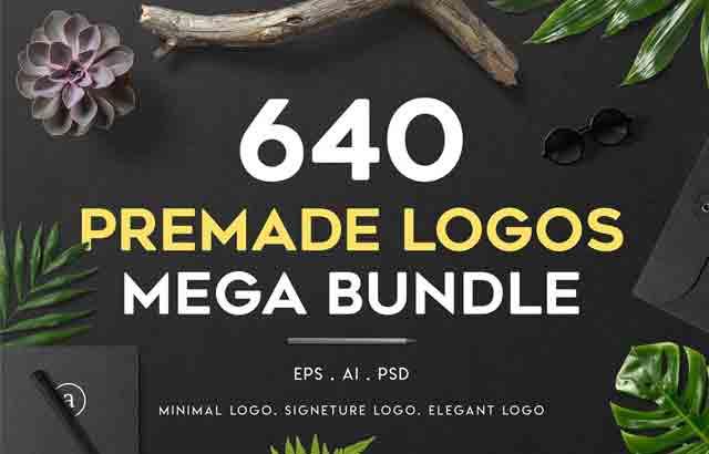 640 Premade Logos Mega Bundle ByXpertgraphicD Free Download