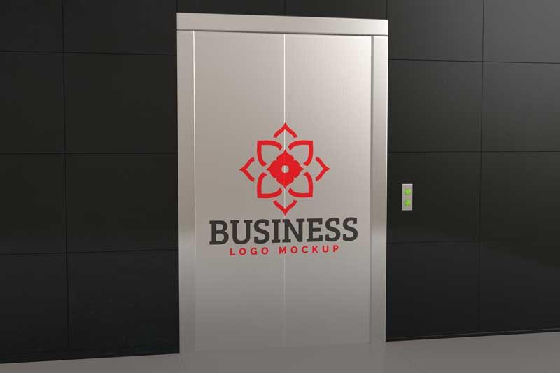 Elevator Logo Mockup By PSDLY 1