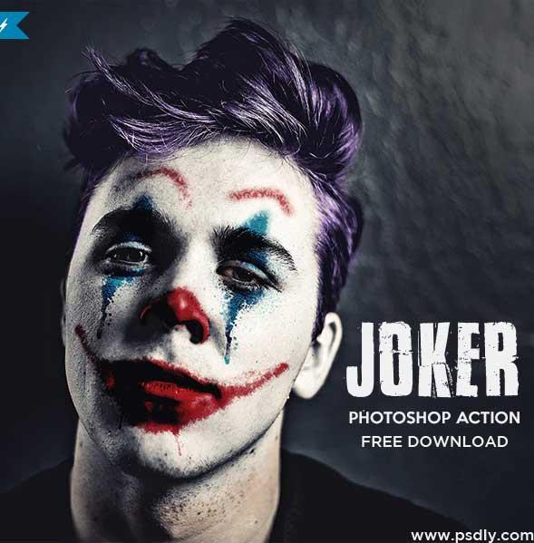 Joker Photoshop Action 24686406 Free PSD MockUps