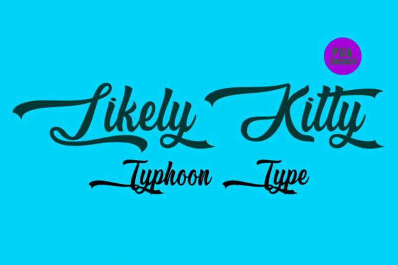 Likely Kitty Font Download free