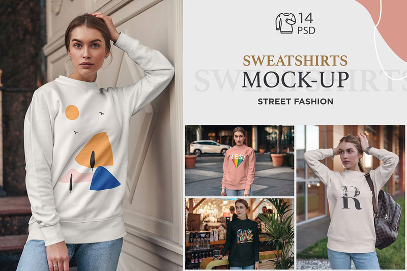 Sweatshirt Mock Up Street Fashion