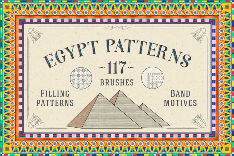 117 Egypt Patterns Brushes 2526 Swatches