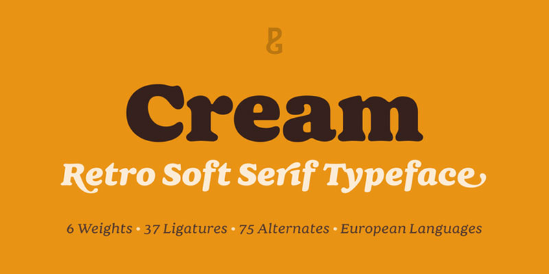 Cream Font Family 12 Fonts