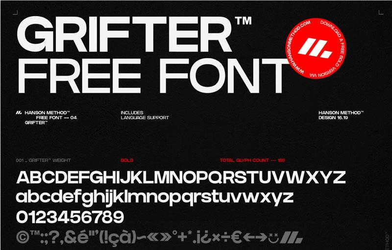 Grifter Bold Strong Sans Serif Font