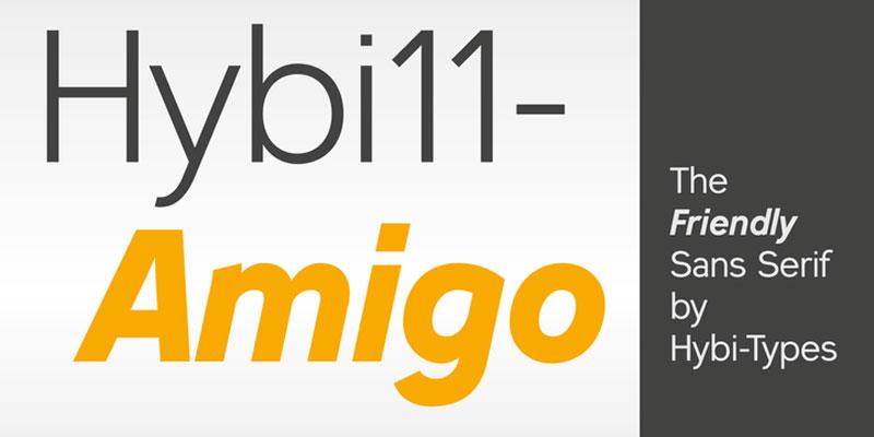 Hybi11 Amigo Font Family