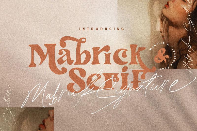 Mabrick Logotype Fashion serif rough