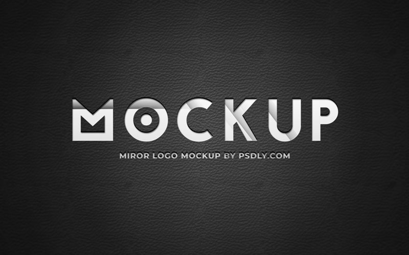 Mirror on Leather Text Effect Mockup 349051893