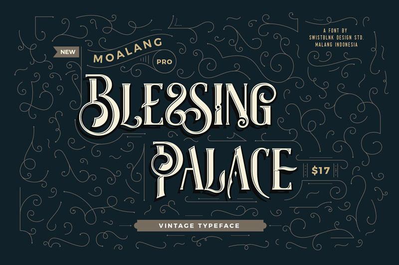 Moalang Pro 252B Ornament Font