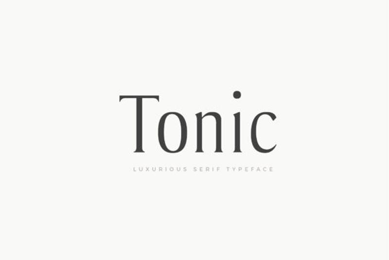 Tonic 25E225802593 Luxurious Serif Typeface