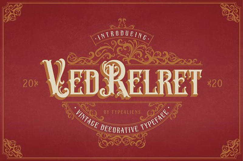 Ved Relret Stunning Display Fonts 4981737 Free