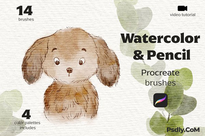 Watercolor2526Pencil Procreate Brushes 4981247