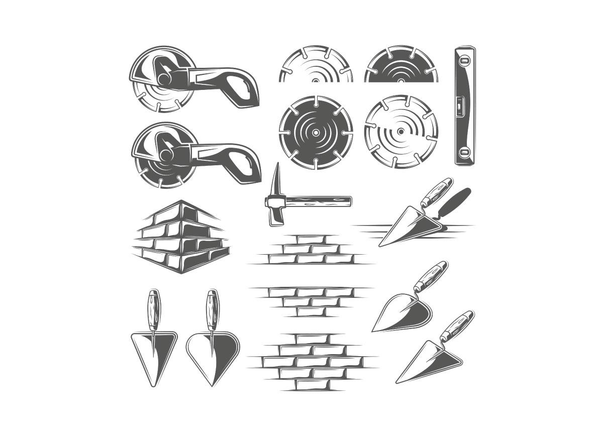 9 Construction Logos Templates Vol.2