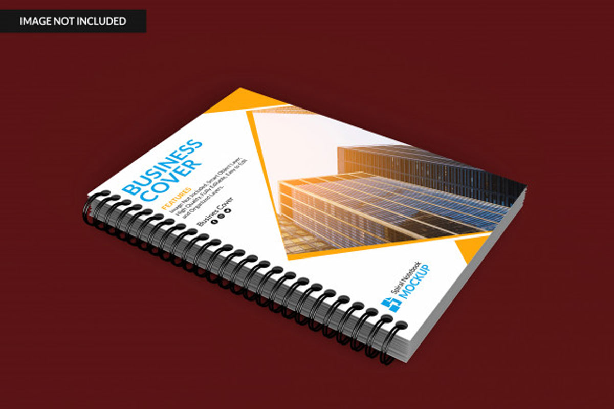 Realistic Notebook PSD Mockup