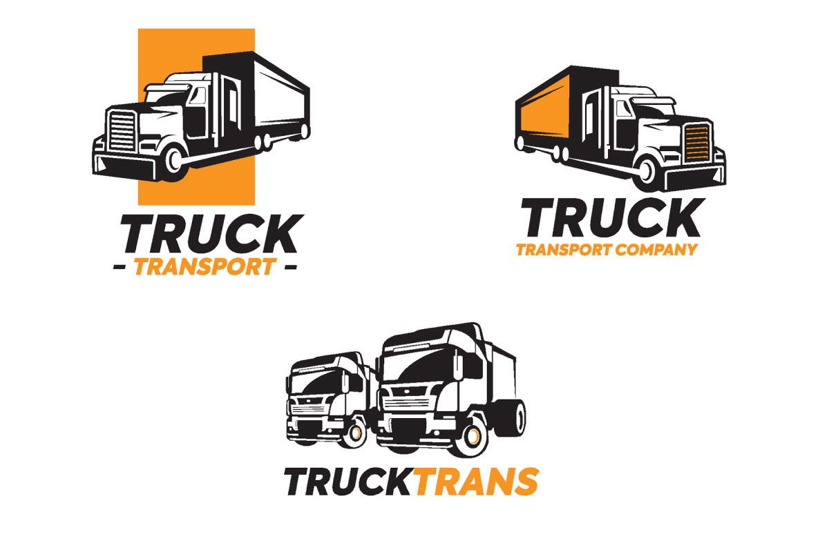 Truck Vector Illustration Logo Bundle