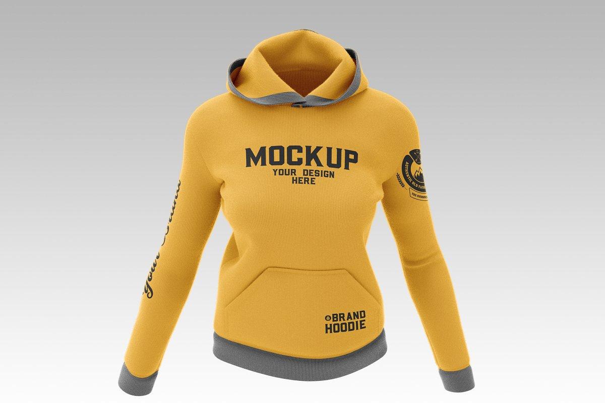 Female Sweatshirt Hoodie Mockup 5088026
