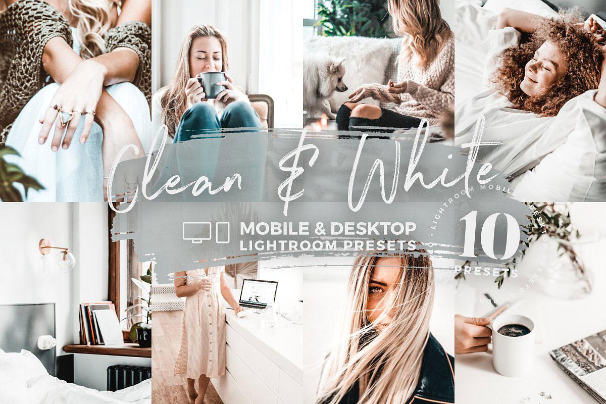10 Clean & White Mobile Presets