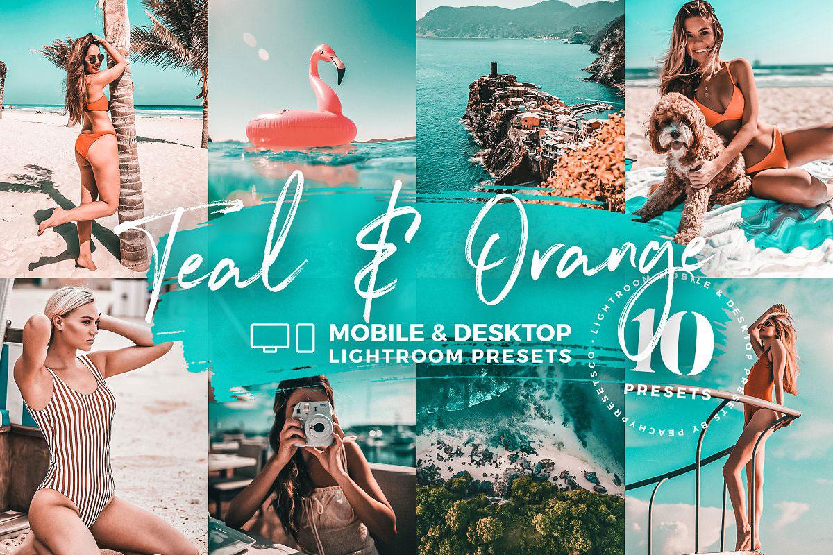 10 Teal & Orange Mobile Presets 5142981