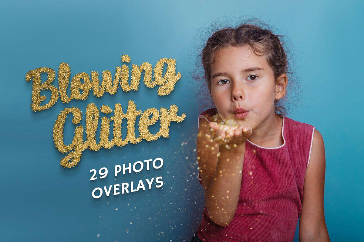 29 Blowing Glitter Photo Overlays 5224211