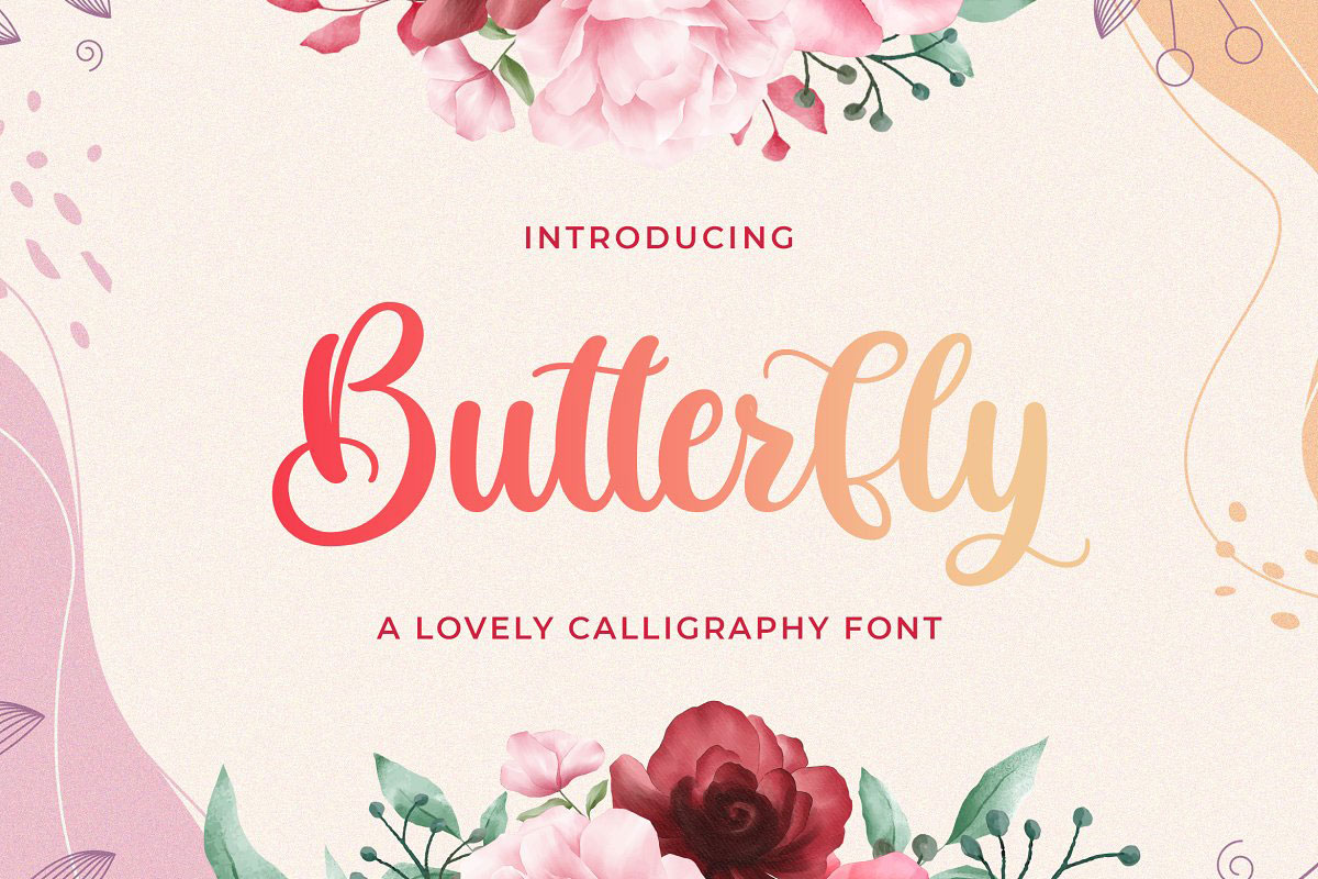 Butterfly Lovely Calligraphy Font 5209535