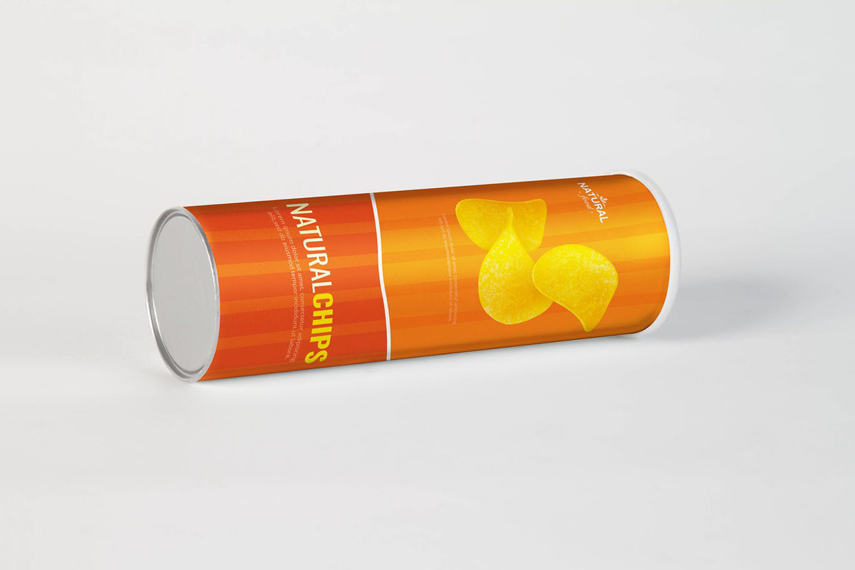 Cylindrical Chips Brand Mock Up