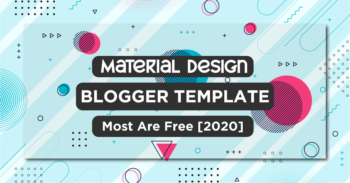 Free Material Design Blogger Template
