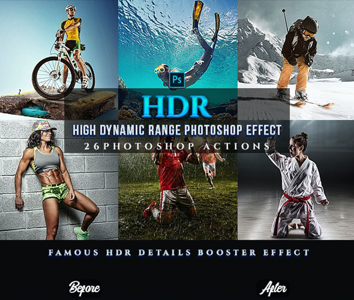 GraphicRiver - HDR Sport Magazine Photoshop 26 Effects 24381878