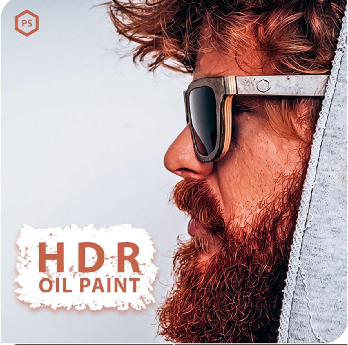 HDR Oil Paint Photoshop Action 26478208