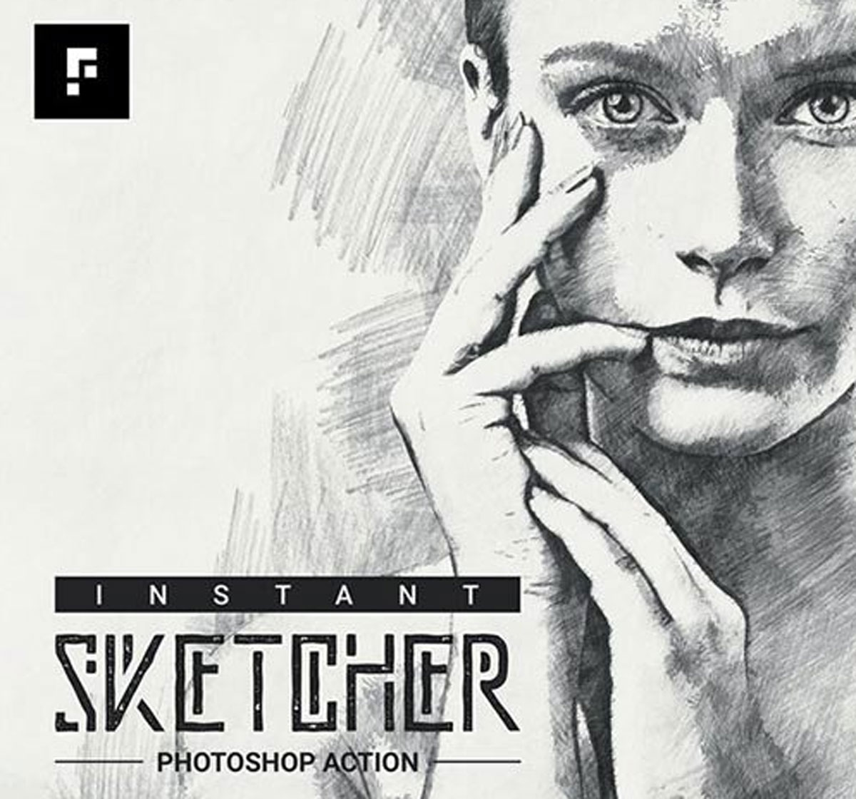 Instant Sketcher Photoshop Action 27659405