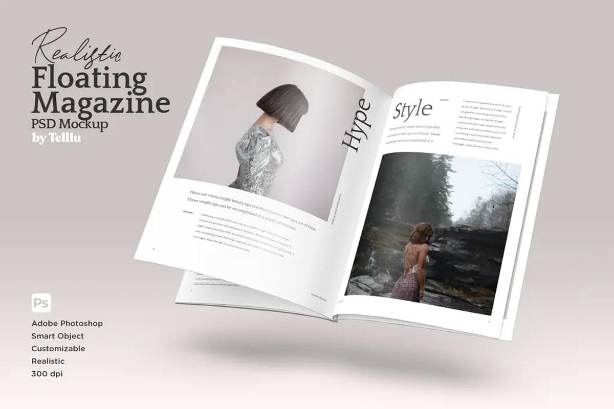 Magazine Mockup V01 Floating