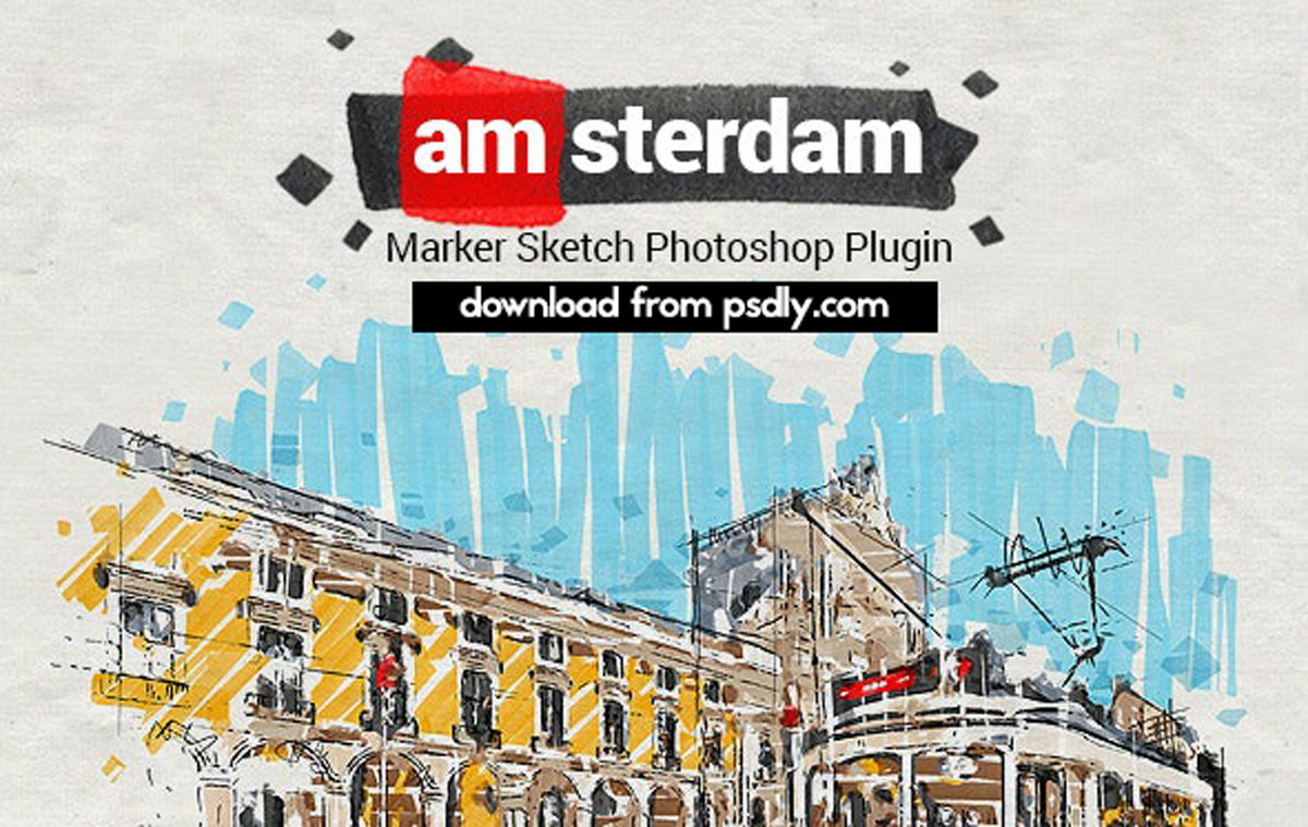 Marker Sketch Toolkit - Amsterdam - Photoshop Plugin 27131257