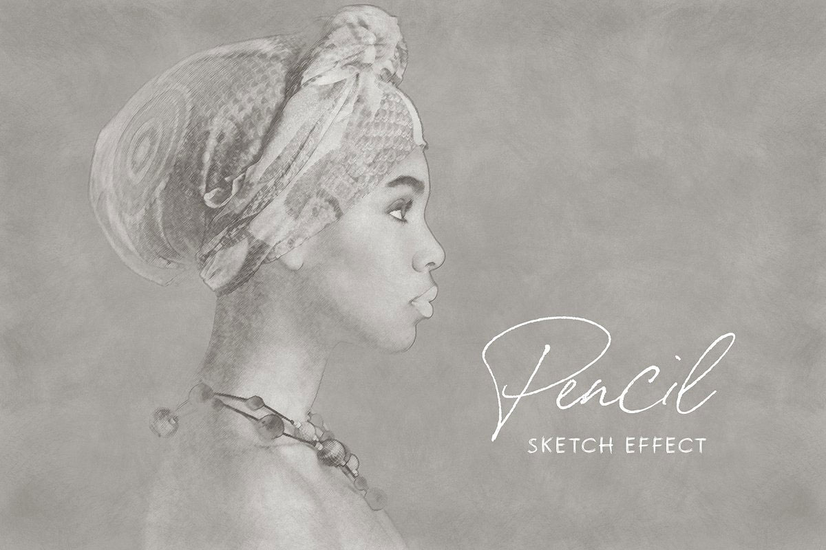 Pencil Drawing Sketch Photo Effect 5219131