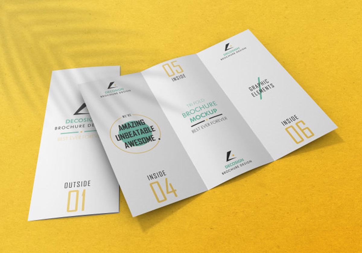 Tri Fold Brochure Mockup Free