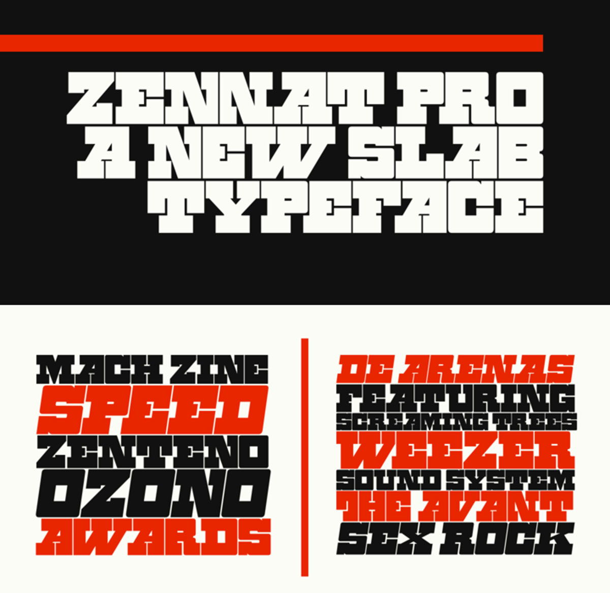 Zennat Pro Font Family - 8 Fonts