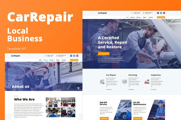 ThemeForest CarRepair v1.0 Local Business Template Kit 27703214