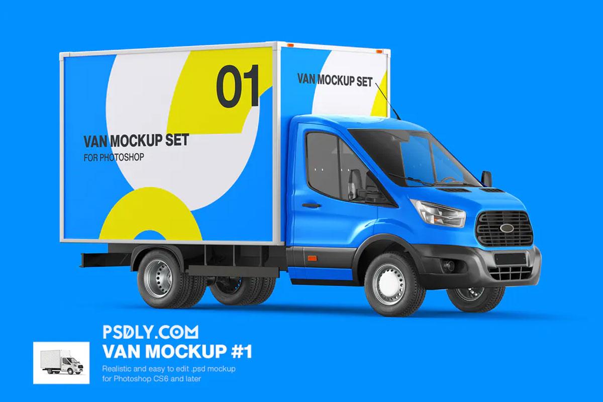 Cube Van Mockup 01